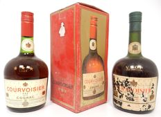 2 bottles Courvoisier *** Luxe and VSOP fine champagne - old bottlings 1960s / 1980s Cognac