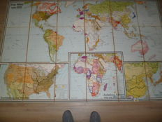 Large map on linen
