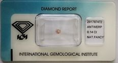 Natural Fancy Light Pink Diamond 0.14 ct  with IGI cert **No minimum price***