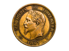 France - 10 Centimes 1863 A - Napoleon III - Bronze