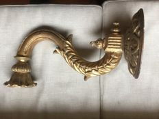 Gilded wooden candle holder - Italy - 19th century