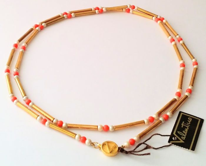 Golden Plated Tube Bead Necklace