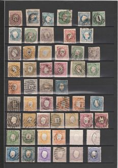 Portugal 1853/1895 - Collection of stamps.