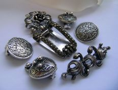 Unique German Bavarian/Pforzheim silver jewellery lot - ca. 1950/60