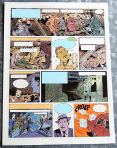 Studios Jacobs - Bleu de coloriage original + film noir - Blake et Mortimer - L'Affaire du Collier