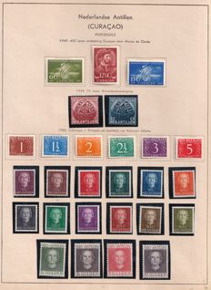 "Netherlands Antilles 1949/1950 - Small collection, including Juliana ""En face"" series."