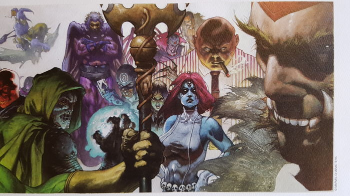 SIMONE BIANCHI rare MARVEL VILLAINS art LARGE print SIGNED limited 2014 LAST TWO
