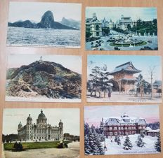 Beautiful collection of 85 postcards, mostly French.