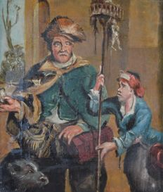 Continental school (19th century) - The rat catcher