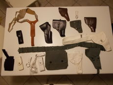 Holsters, Holster Lot consisting of 16 pieces - Italian Police force