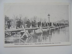 France lot of 55 cards on flooded Paris 1910