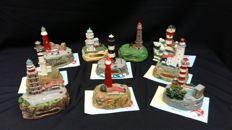 Collection of 10 famous lighthouses, limited editions