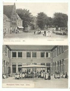 Collection of postcards of Dutch villages and towns, 86x