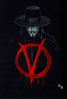 Diego Septiembre - Original Drawing - V For Vendetta