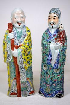 2 porcelain sculptures - China - Mid-20th century