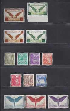 Switzerland 1924/1934 - Various issues - Michel 189/191x, 233/34x, 233/234y and 270/276.