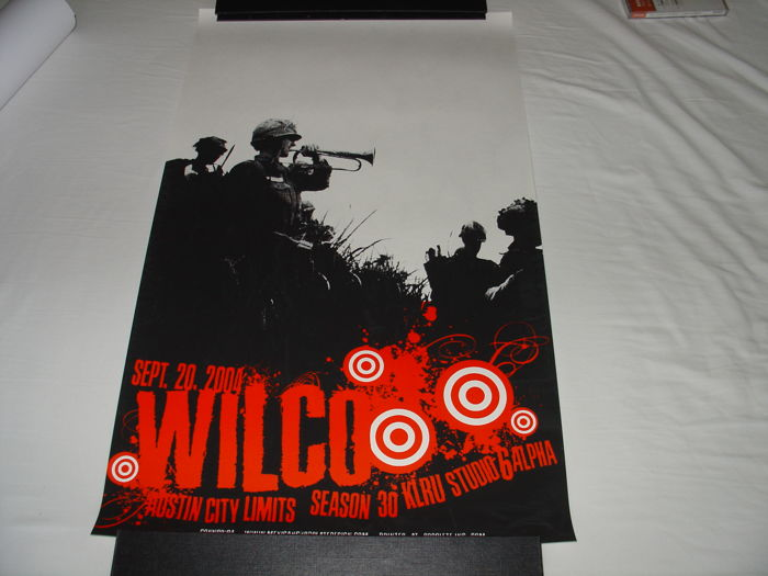 Wilco concert posters 2x screen print posters from concert in Austin city Limits 20 september 2004 and European tour 2011