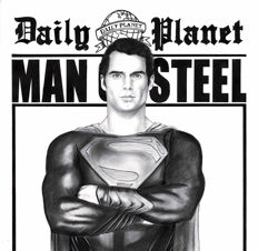 Diego Septiembre - Original Drawing - Superman - Man of Steel - Daily Planet Cover