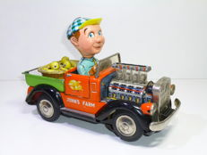 TN / Nomura, Japan - Length: 24 cm - 1960s John's Farm Truck, battery operated
