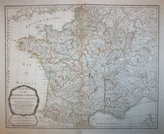 France; Laurie / Whittle - A new map of the Kingdom of France - 1794