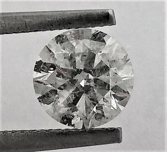 Round Brilliant Cut  - 1.26 carat - F color - SI1 clarity- Comes With AIG Certificate + Laser Inscription On Girdle