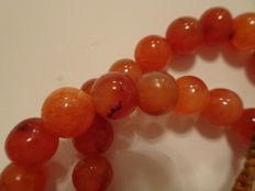 A lot of Carnelian Beads in form of a Necklace consisting of 38 beautiful individual beads  - 420 mm