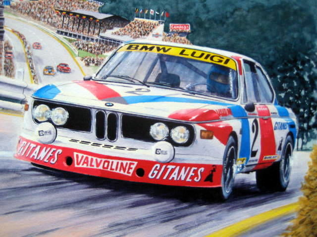 """Super Luigi"" - Jean Xhenceval - Hughes de Fierlant BMW 3.0 csi Winner of the Francorchamps 24 Hours 1975"