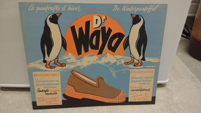Advertising Dr. Waya Winter slippers 1950s