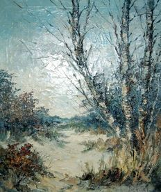 Bevort (20th century) - Dunes with birches