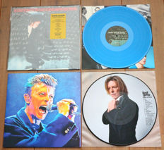 David Bowie- lot of 2 rare unofficial lp's: Live At The Los Angeles Forum 1976 (limited edition of 500 copies, nr. 448/500, BLUE wax) & Fame In Paris (Special limited edition picture disc lp for Ziggy Stardust Nippon)
