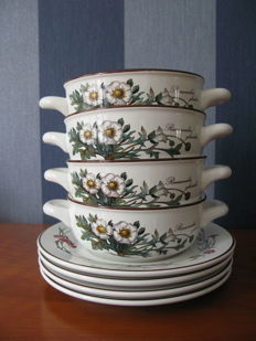 Villeroy & Boch – 4 sets Botanica soup bows with saucers