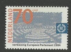 The Netherlands 1984 - European Parliament, misprint - NVPH 1300 without yellow print