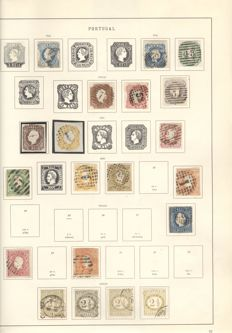 Portugal 1853/1910 - Collection on album sheets.