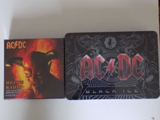 "AC/DC "" Black Ice "" CD + DVD LTD Edition Tin Box Set & "" Hell""s Radio "" 6 CD Box Set."