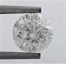 Round Brilliant Cut  - 1.77 carat  - F color  - SI2 clarity   - Natural Diamond  - With AIG Big Certificate + Laser Inscription On Girdle