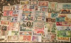 World - 100 worldwide banknotes from 1914 to present
