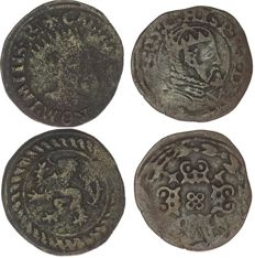 Gelderland - Short Karel V (no date approx. 1550) & Philips II (no date approx. 1557) unmarked variety) - copper