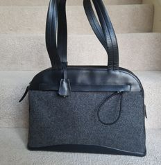 Prada - Wool Leather Tote Bag