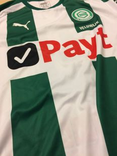 Signed and worn match shirt Lars Veldwijk in combination with meet & greet during match FC Groningen - Ajax on April 1, 2018