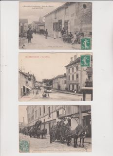 superb lot of 50 postcards of France very animated
