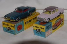 2 x Corgi Toys - 1/43 - Ghia L.6.4 Chrysler V8 no. 241 and Fiat 2100 no. 232