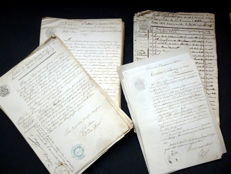 Department of Isère; Collection of old civil status documents - 61 acts - 1846/1853