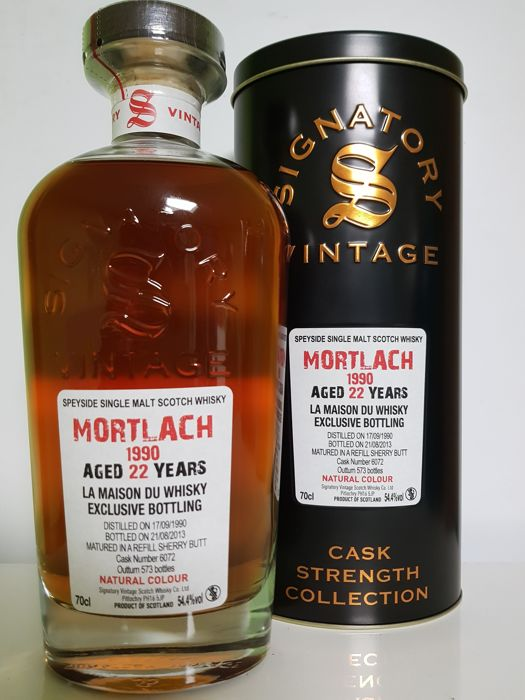 Mortlach 22 Years 1990 Refill Sherry Signatory Vintage Bottled 2013