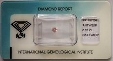 Natural Fancy Pink Diamond 0.21 ct  with IGI cert
