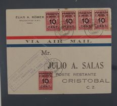 Netherlands and Overseas - Airmail postal items starting from 1929: approx. 80 pieces in a Lindner album