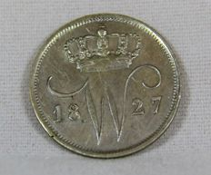 The Netherlands - 10 cent 1827 B Willem I - silver