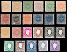 Cape Verde 1877/1881 - Lot of 23 stamps