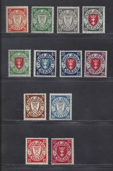 Danzig 1924/1927 - Various issues - Michel 193/201, 214/215 and 216