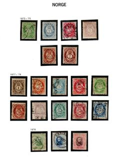 Norway 1872/1907 - stamp collection on Album Pages