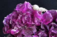 Intense violet fuxia Cobaltoan Dolomite from Morocco - 7.6 X 5.7 X 3.7 cm - 166 gm